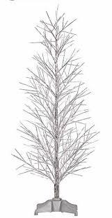vickerman 3 silver fiber optic twig tree with multi