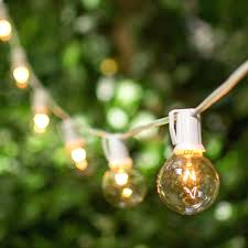 clear bulb string lights outdoor globe home depot 21140 gallery