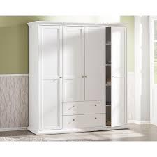 Kleiderschrank Viel Stauraum Kleiderschrank Weiß Klassischer Landhausstil Mit Eleganter Note