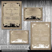 mountain wedding invitations rustic mountain wedding invitation set woodsy wedding invites