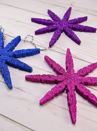 clothespin snowflake ornaments a bigger