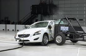 bugatti crash test 2012 volvo s60 aces iihs testing automotorblog
