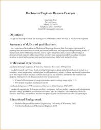 Resume Samples For Mechanical Engineers by Objective In Resume For Mechanical Engineer Resume Examples 2017