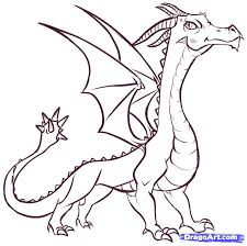drawn dragon easy pencil and in color drawn dragon easy