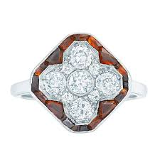 art deco onyx diamond platinum ring circa 1925 for sale at 1stdibs