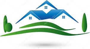 three houses three houses and meadow estate brokers estate logo