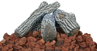 uniflame lava rock and log kit for outdoor fire pits u0026 reviews