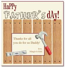 printable handy father u0027s day card template