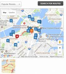 Walking Map Boston by Optimize Routes