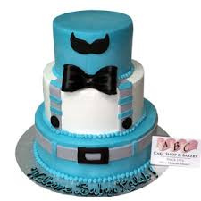 mustache and bow tie baby shower 2204 3 tier baby shower cake abc cake shop bakery
