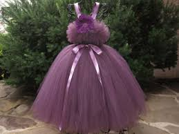 aubergine tutu dress flower birthday dress