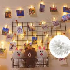 string lights with clips 50 led 5 5m photo clip peg display fairy string lights wall hanging