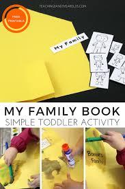 to create a simple family book with toddlers