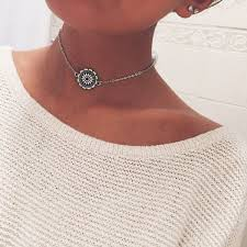 choker necklace sale images Star gaze jewelry choker necklace mandala flower indie hippie jpg