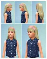 child bob haircut sims 4 girlyhair with headband at birksches sims blog sims 4 updates