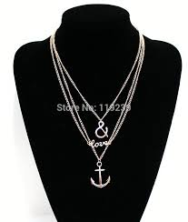 Popular Items For Love Anchors - aliexpress com buy kn159 fashion love anchor pendant necklaces