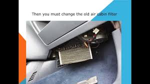how to replace the air cabin filter dust pollen filter on a