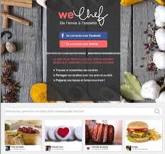 reseau social cuisine wechef de l envie à l assiette un nouveau réseau social