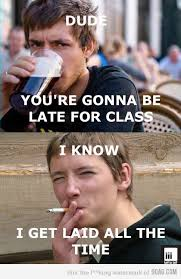 College Senior Meme - image 309406 lazy college senior know your meme