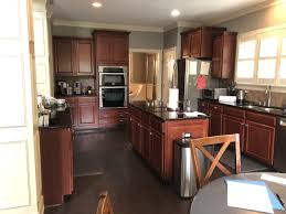 kitchen wall paint with brown cabinets painted cherry cabinets kitchen makeover tucker