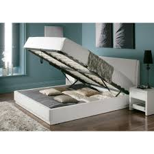 aden high gloss ottoman storage bed u2013 white