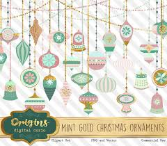 mint and gold ornaments clipart pink ornament