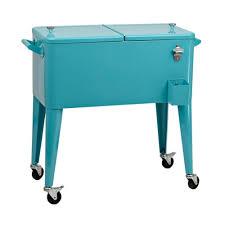 Kirklands Patio Furniture Retro Turquoise 80 Qt Patio Cooler Kirklands