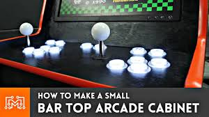 bar top arcade cabinet with a raspberry pi from a single sheet of