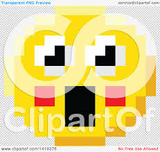 happy thanksgiving smiley face clipart of a surprised 8 bit video game style emoji smiley face