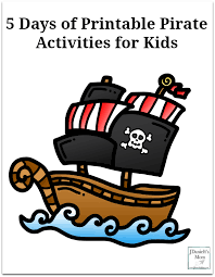 5 days of printable pirate activities for kids pinterest png