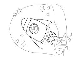 drawn rocket coloring pencil and in color drawn rocket coloring