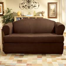 Couch With Slipcover Sure Fit Stretch Suede 2 Piece T Cushion Walmart Com