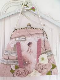shabby chic ballerina romantic handmade purse bag от tatterandwild