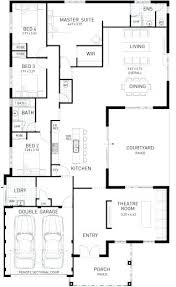 4 bedroom single story house plans five bedroom house plans one story downloadcs club