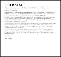 administrative supervisor cover letter sample livecareer