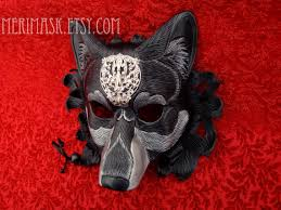 wolf masquerade mask regal dire wolf mask handmade original leather mask masquerade