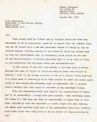 einstein u0027s letter to roosevelt august 2 1939