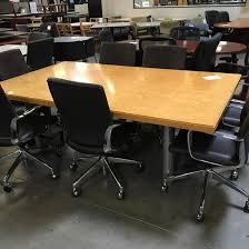 Maple Office Desks Used 7 Rectangle Conference Table Birdseye Maple Arizona Office