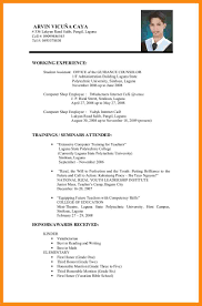 Job Resume Format Examples by Format Resume Job