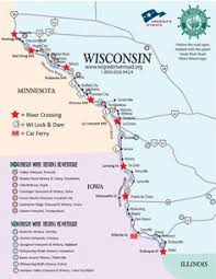 wisconsin scenic drives map wisconsin scenic drives great river road wisconsin rivers and