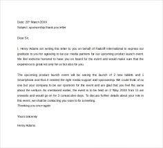 sample sponsor thank you letter 26 download documents in pdf word