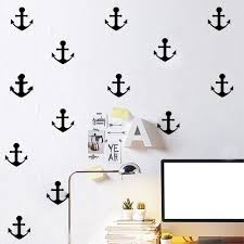 online get cheap anchor wall stickers aliexpress com alibaba group nordic style ocean anchor wall sticker home decor cartoon anchor wall stickers for kids room bedroom