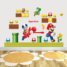 hot sale new cartoon wall sticker super mario bros vinyl removable hot sale new cartoon wall sticker super mario bros vinyl removable decals kids nursery sticker for the wall decoration sticker for wall from billshuiping