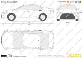 2011 toyota camry dimensions the blueprints com vector drawing toyota camry