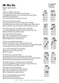 light of the world chords ukulele chords mr blue sky by electric light orchestra