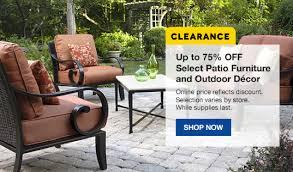 Kroger Patio Furniture Clearance by Lowe U0027s 75 Off Select Patio Furniture U0026 Outdoor Decor