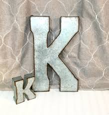 metal letters wall decor wall metal letter galvanized metal letters letter k galvanized metal wall by theshabbystore