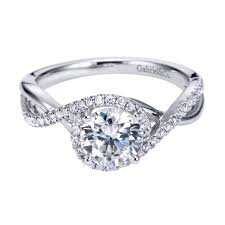 gabriel and co engagement rings gabriel co engagement rings split shank criss cross band