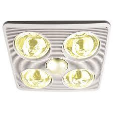3 In 1 Bathroom Light Ixl Tastic Silhouette 3 In 1 Bathroom Heat Fan Light Bunnings