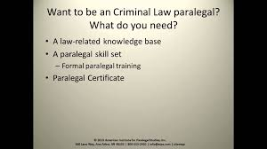 criminal law paralegal youtube